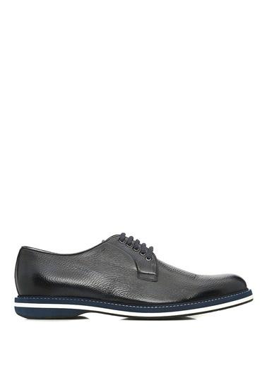 Barrett %100 Deri Bağcıklı Ayakkabı Lacivert